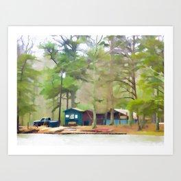 Lake Cheaha picnic area Art Print