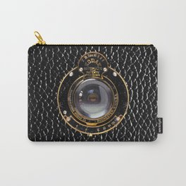 Camera | charcoal | vintage style Carry-All Pouch