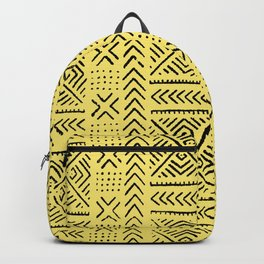 Line Mud Cloth // Yellow Backpack