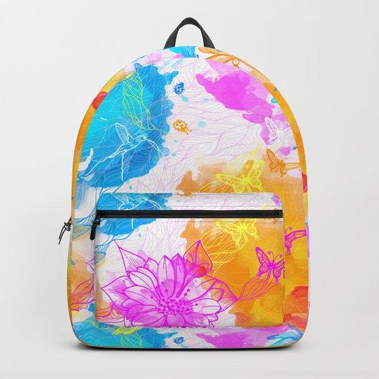 Floral Pattern 09 Backpack
