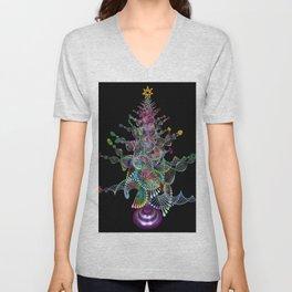 Tree-cristmas decortion Unisex V-Neck