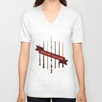 marauders V-neck T-shirts featuring Mischief Managed by Dorothy Leigh