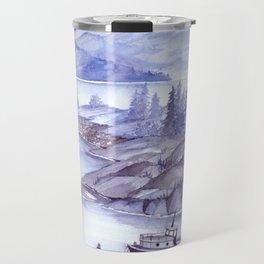 Fjord Monochrome Travel Mug