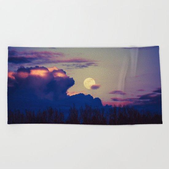 The Rising Moon Beach Towel