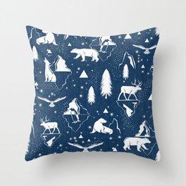 Arctic Circle - Blue Throw Pillow
