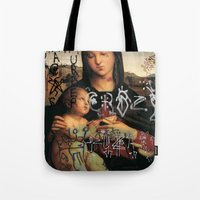 madonna Tote Bags featuring Madonna  by Mexicanfood