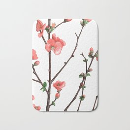Flowering Quince Painting Bath Mat