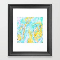 Marble Aqua Framed Art Print