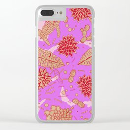 Warm Flower Clear iPhone Case
