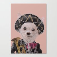 mexican Canvas Prints featuring Mexican Chihuahua by Rachel Waterman