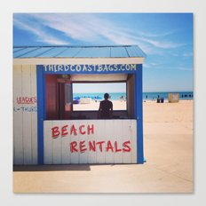 Beach Rentals Canvas Print
