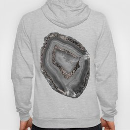 Gray Agate Rose Gold Glitter Glam #1 #gem #decor #art #society6 Hoody