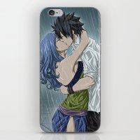 arya iPhone & iPod Skins featuring Gruvia - Rain by Arya