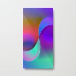 blue lines -2- Metal Print