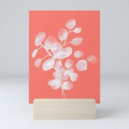Eucalyptus Silver Dollar Living Coral Mini Art Print