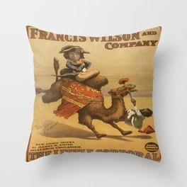 Vintage poster - The Little Corporal Throw Pillow