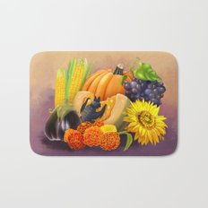 Commisions | Bat autumn harvest Bath Mat