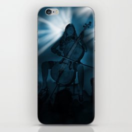 Cello Player iPhone Skin