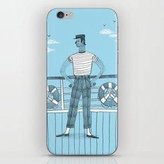 Sailor on deck iPhone & iPod Skin