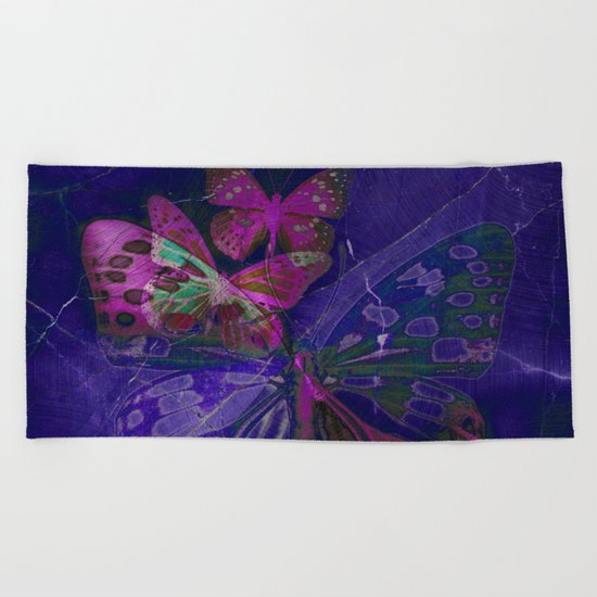Marble Butterflies Beach Towel