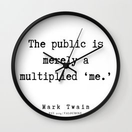 91    | Mark Twain Quotes | 190730 Wall Clock