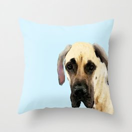 Great Dane Art - Dog Painting by Sharon Cummings Throw Pillow