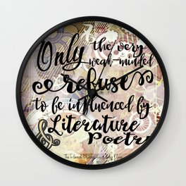 literature and poetry - infernal devices Wall Clock