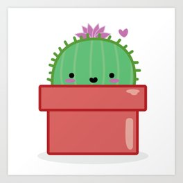 Callie the Cactus Art Print