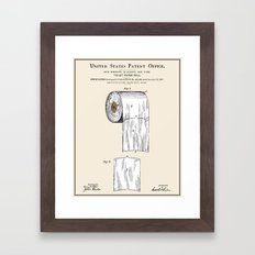 Toilet Paper Roll Patent Framed Art Print
