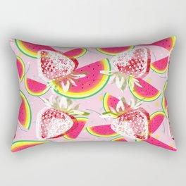 Strawberries Melon Fiesta Pattern Rectangular Pillow