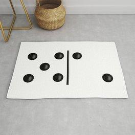 White Domino / Domino Blanco Rug