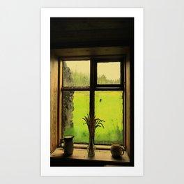 A Light through Yonder Window  Art Print