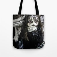 goth Tote Bags featuring Goth Girl by Nevermind the Camera