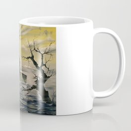Visions from a Silent Thought- Mdina- the sea keeping the city isolated & peaceful.. Coffee Mug