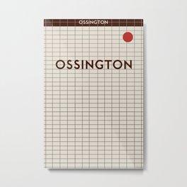 OSSINGTON | Subway Station Metal Print