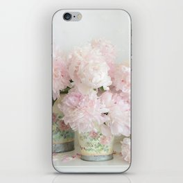 Shabby Chic Dreamy Pastel Peonies Floral Home Decor iPhone Skin
