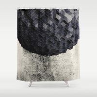 suits Shower Curtains featuring ERTH I by Graphmob