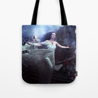 selena Tote Bags featuring Selena Rosa 2 by Alexandra V Bach