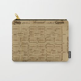 Map Of Savannah 1761 Carry-All Pouch