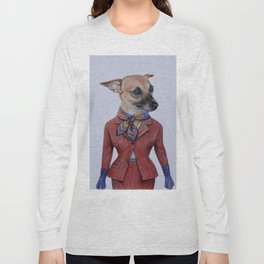dog in uniform Long Sleeve T-shirt