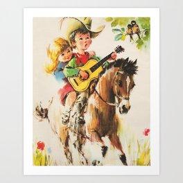 Little Cowboy Art Print