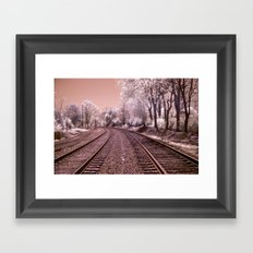 Train Track in Culpeper Framed Art Print
