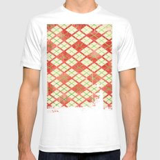 Vintage Wrapping Paper Mens Fitted Tee SMALL White