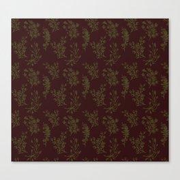 Wild Botanicals, Vintage Flowers, Vintage, Abstract, Art-Noveau Canvas Print