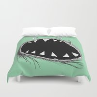 monster Duvet Covers featuring monster by Кaterina Кalinich