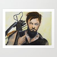 daryl Art Prints featuring Daryl by Brittany Ketcham