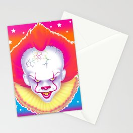 1997 It's That New Scary Clown Stationery Cards