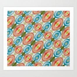 Vibrant Geometric Rainbow Art Print