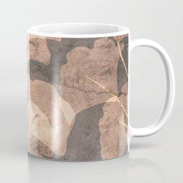 Ginkgo Leaves Rose Gold Brown Coffee Mug