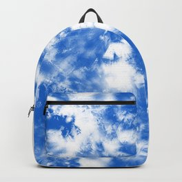 Blue Tie Dye & Batik Backpack
